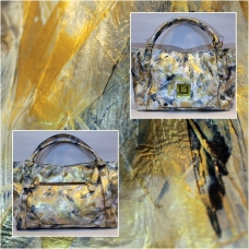 Van Gogh Goresan Leather Bag